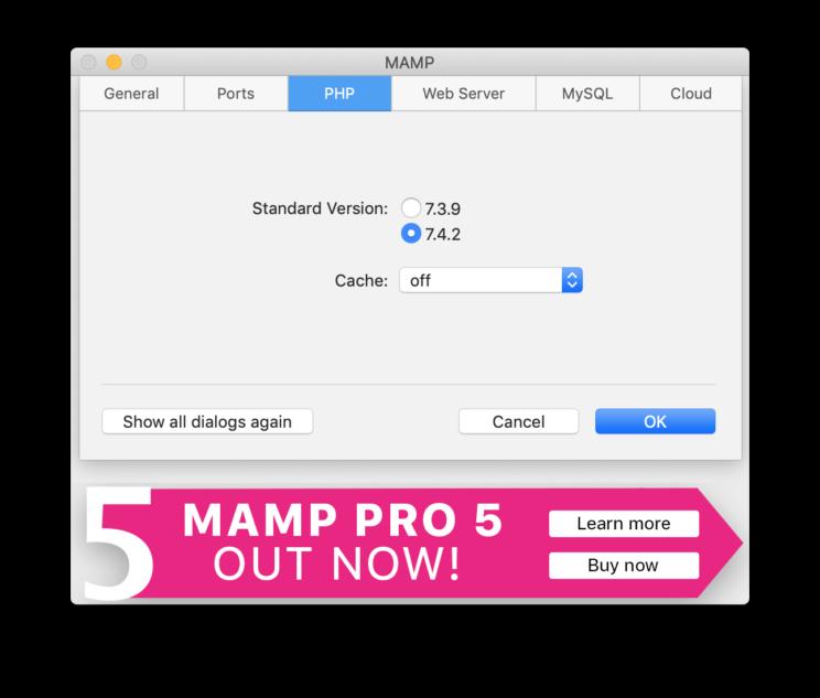 MAMP PHPの設定